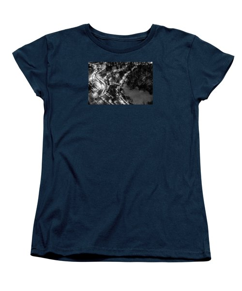 Women's T-Shirt (Standard Cut) featuring the photograph Central Park Trails by M G Whittingham