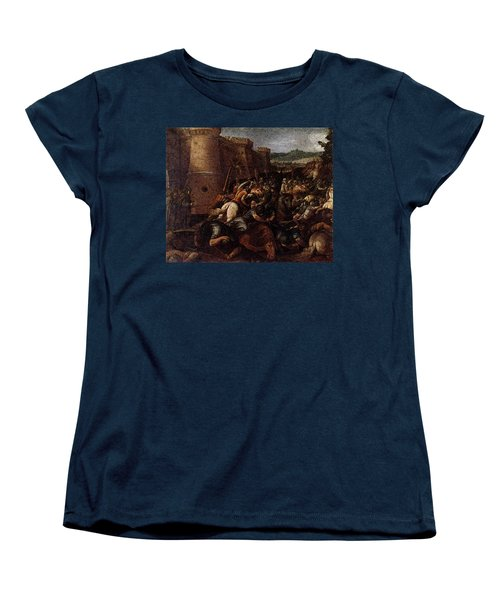 Cesari Giuseppe St Clare With The Scene Of The Siege Of Assisi Women's T-Shirt (Standard Cut) by Giuseppe Cesari