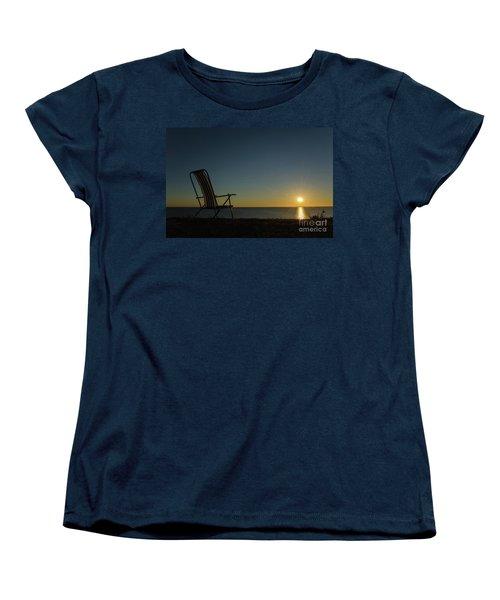 Women's T-Shirt (Standard Cut) featuring the photograph Chair By The Setting Sun by Kennerth and Birgitta Kullman