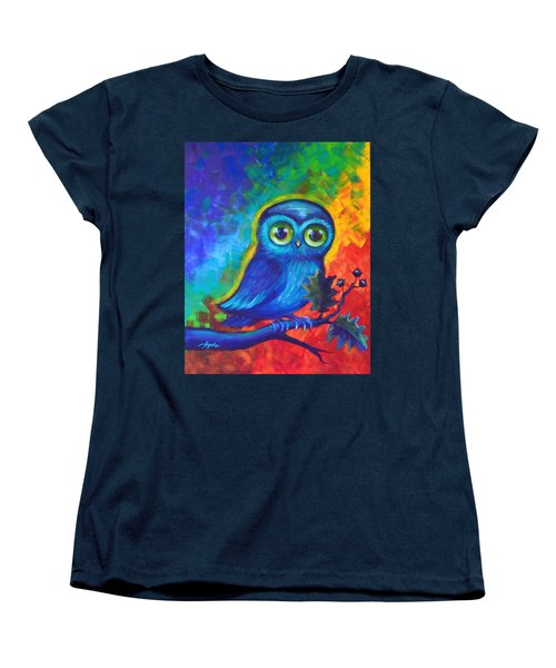 Chakra Abstract With Owl Women's T-Shirt (Standard Cut)