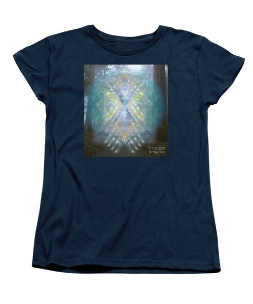 Women's T-Shirt (Standard Cut) featuring the digital art Chalice-tree Spirit In The Forest V1 by Christopher Pringer