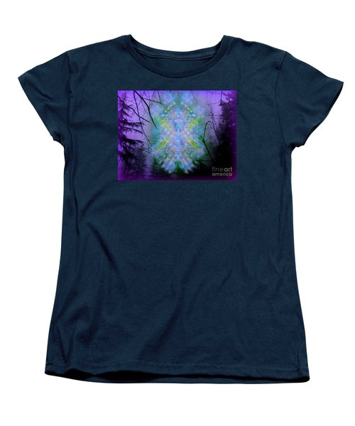 Women's T-Shirt (Standard Cut) featuring the digital art Chalice-tree Spirit In The Forest V1a by Christopher Pringer