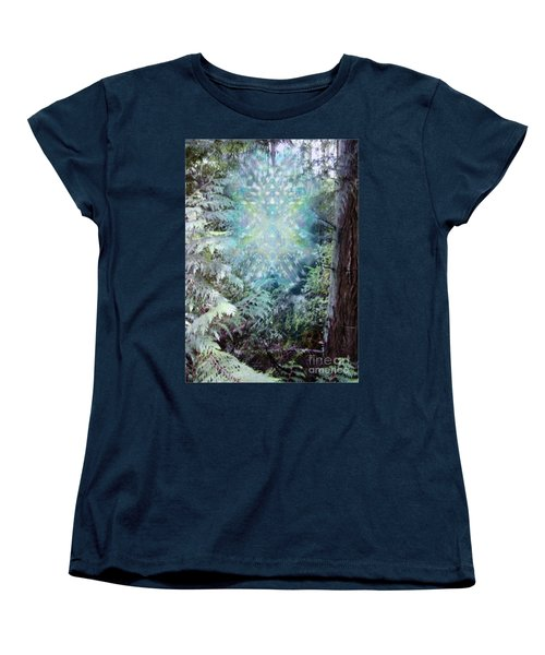 Women's T-Shirt (Standard Cut) featuring the digital art Chalice-tree Spirit In The Forest V3 by Christopher Pringer