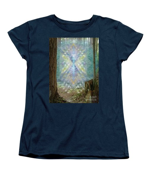 Women's T-Shirt (Standard Cut) featuring the digital art Chalice-tree Spirt In The Forest V2 by Christopher Pringer