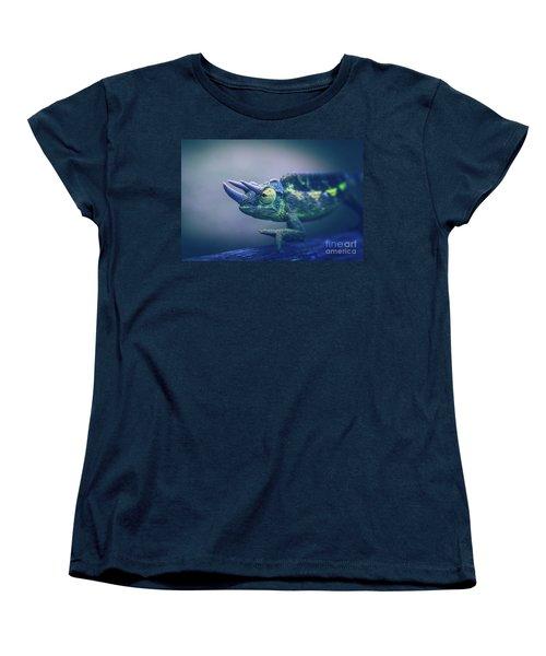 Women's T-Shirt (Standard Cut) featuring the photograph Chamaeleo Jacksonii by Sharon Mau