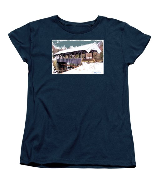 Chamberlain Bridge Women's T-Shirt (Standard Cut) by John Selmer Sr