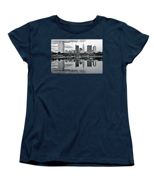 Charcoal Columbus Mirror Image Women's T-Shirt (Standard Cut) by Frozen in Time Fine Art Photography