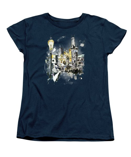 Charles Bridge In Winter Women's T-Shirt (Standard Cut)