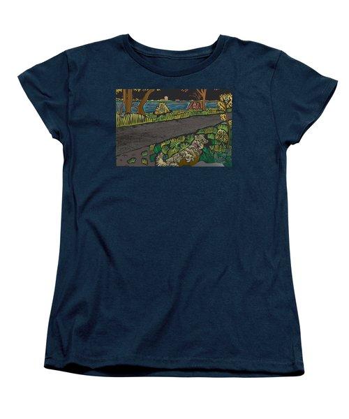 Charlie On Path Women's T-Shirt (Standard Cut) by Kevin McLaughlin