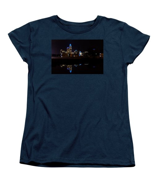 Charlotte Reflection At Night Women's T-Shirt (Standard Cut) by Serge Skiba