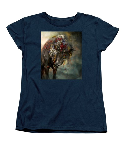 Women's T-Shirt (Standard Cut) featuring the painting Charmer  by Dorota Kudyba
