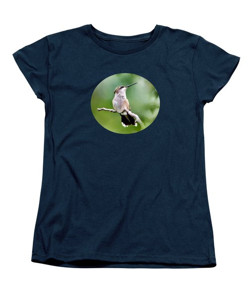 Charming Hummingbird Women's T-Shirt (Standard Cut) by Christina Rollo
