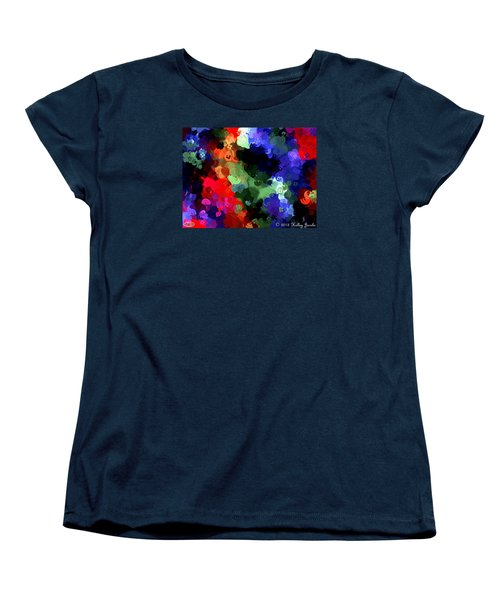 Women's T-Shirt (Standard Cut) featuring the painting Chasing Sleep by Holley Jacobs