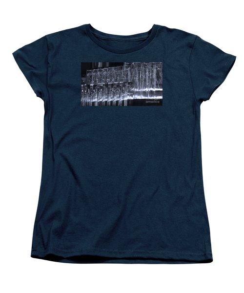 Chasing Waterfalls - Blue Women's T-Shirt (Standard Cut) by Linda Shafer