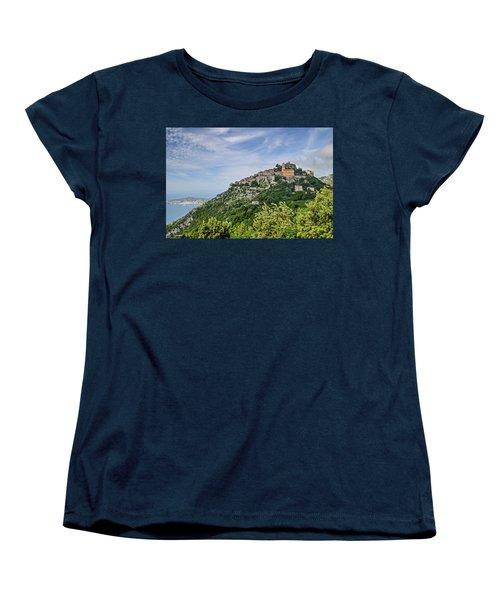 Chateau D'eze On The Road To Monaco Women's T-Shirt (Standard Cut) by Allen Sheffield