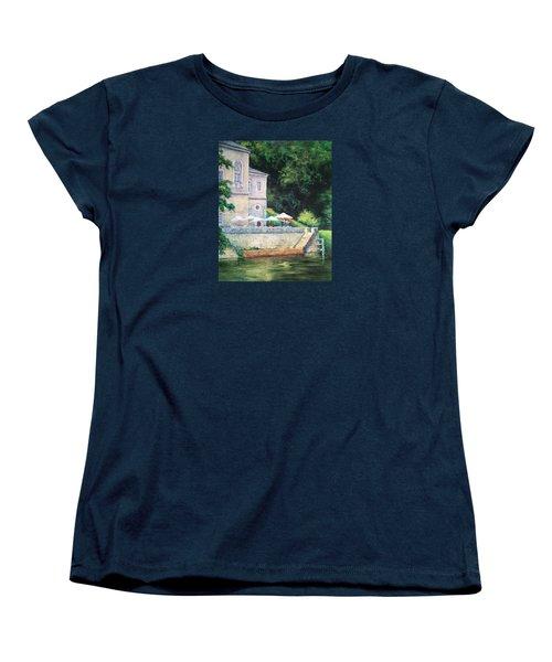 Chateau On The Lot River Women's T-Shirt (Standard Cut) by Jill Musser