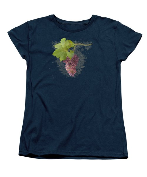 Chateau Pinot Noir Vineyards - Vintage Style Women's T-Shirt (Standard Cut) by Audrey Jeanne Roberts