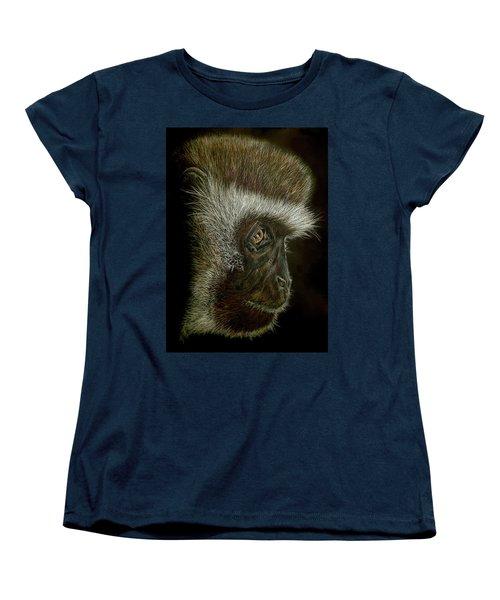 Cheeky Monkey Women's T-Shirt (Standard Cut) by Heidi Kriel