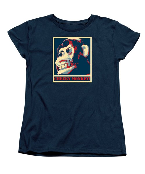 Cheeky Monkey Women's T-Shirt (Standard Cut) by Richard Reeve
