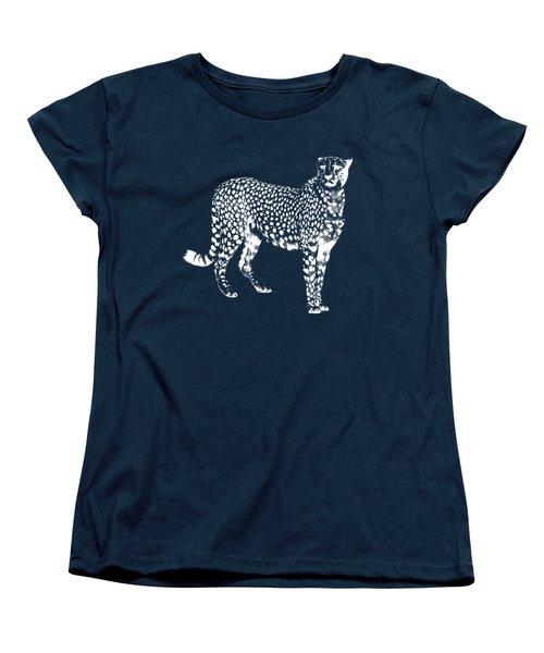 Cheetah Cut Out White Women's T-Shirt (Standard Cut) by Greg Noblin