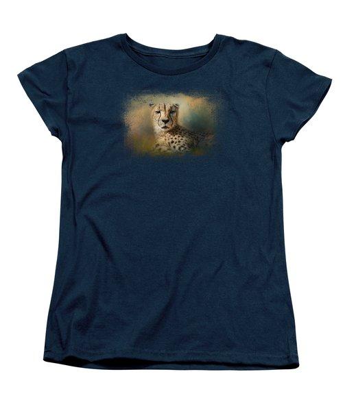 Cheetah Enjoying A Summer Day Women's T-Shirt (Standard Cut) by Jai Johnson