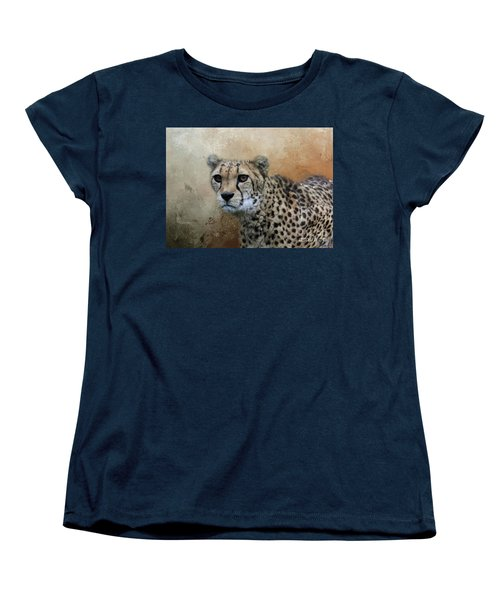 Cheetah Portrait Women's T-Shirt (Standard Cut) by Eva Lechner