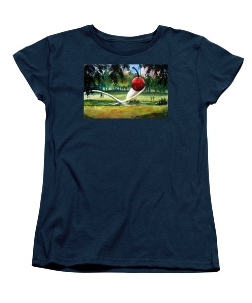 Cherry And Spoon Women's T-Shirt (Standard Cut) by Marilyn Jacobson