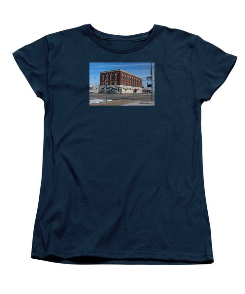 Women's T-Shirt (Standard Cut) featuring the photograph Cherry Street Mission In Winter by Michiale Schneider