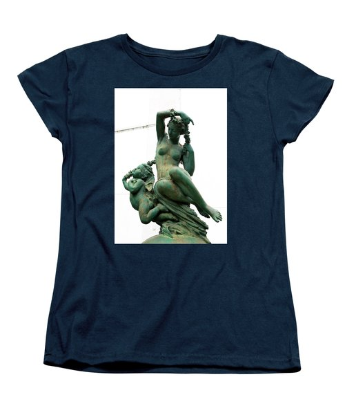 Cherub In Green Copper Women's T-Shirt (Standard Cut) by Lorraine Devon Wilke