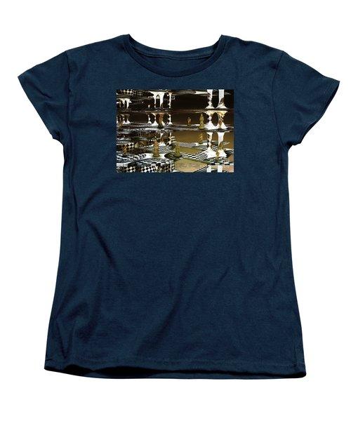 Chess Anyone Women's T-Shirt (Standard Cut) by Melissa Messick