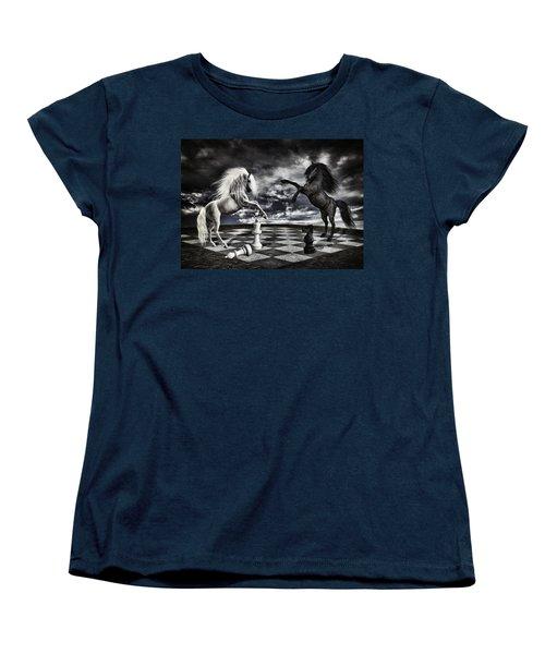Chess Players Women's T-Shirt (Standard Cut) by Mihaela Pater