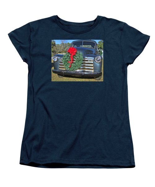 Chevy Christmas Women's T-Shirt (Standard Cut) by Victor Montgomery