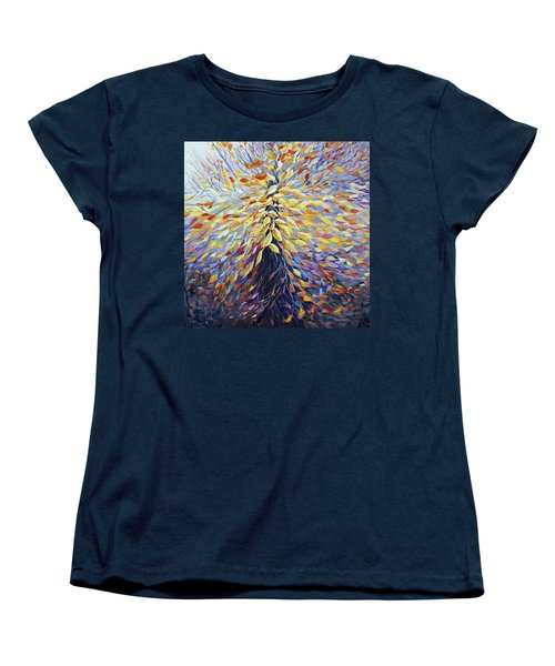 Women's T-Shirt (Standard Cut) featuring the painting Chi Of The Mighty Tree by Joanne Smoley