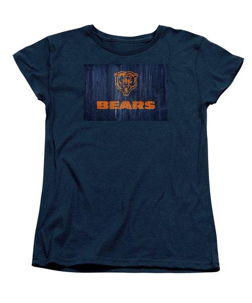 Chicago Bears Barn Door Women's T-Shirt (Standard Cut) by Dan Sproul