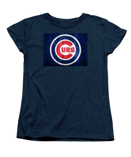 Chicago Cubs Barn Door Women's T-Shirt (Standard Cut) by Dan Sproul