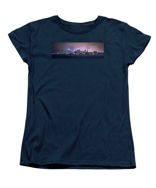 Chicago Skyline From Evanston Women's T-Shirt (Standard Cut) by Scott Norris