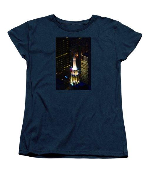 Chicago Temple Building Steeple Women's T-Shirt (Standard Cut) by Richard Zentner