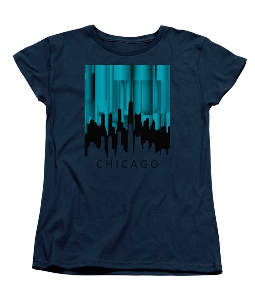 Chicago Turqoise Vertical Women's T-Shirt (Standard Cut) by Alberto RuiZ