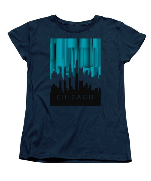Chicago Turqoise Vertical In Negetive Women's T-Shirt (Standard Cut) by Alberto RuiZ