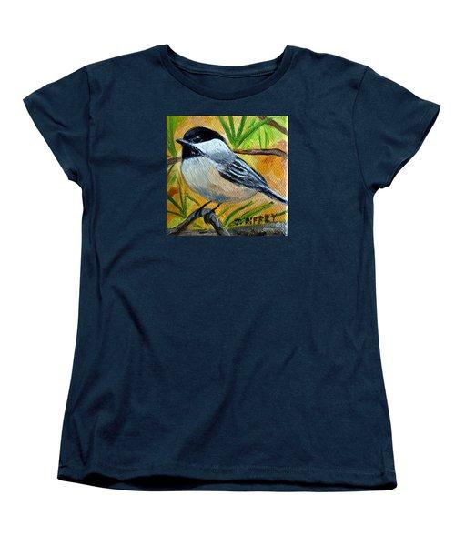 Chickadee In The Pines - Birds Women's T-Shirt (Standard Cut) by Julie Brugh Riffey