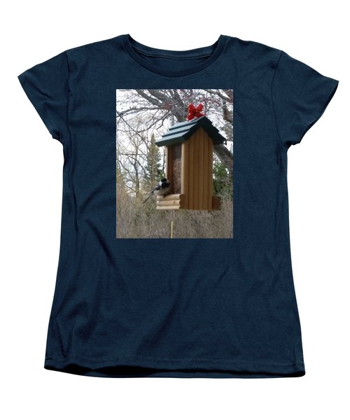 Chickadee Women's T-Shirt (Standard Cut) by Wendy Shoults