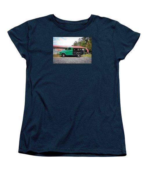 Women's T-Shirt (Standard Cut) featuring the photograph Chicken Road Market by Marion Johnson