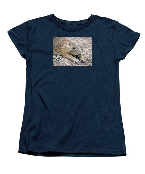 Chillin' Prairie Dog Women's T-Shirt (Standard Cut) by Elaine Malott
