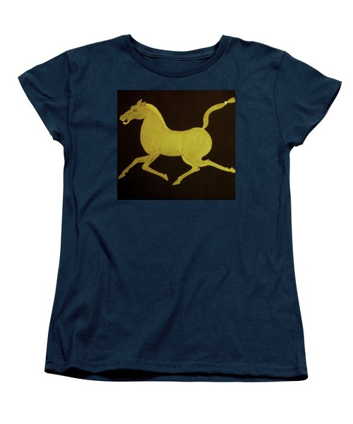 Women's T-Shirt (Standard Cut) featuring the painting Chinese Horse by Stephanie Moore