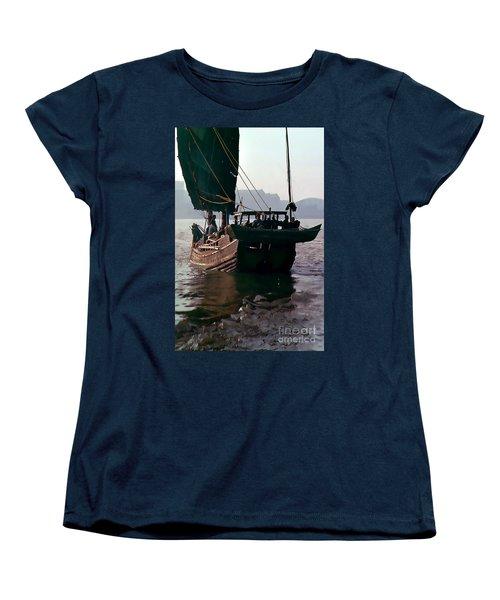 Chinese Junk Afloat In Shanghai Women's T-Shirt (Standard Cut) by Wernher Krutein