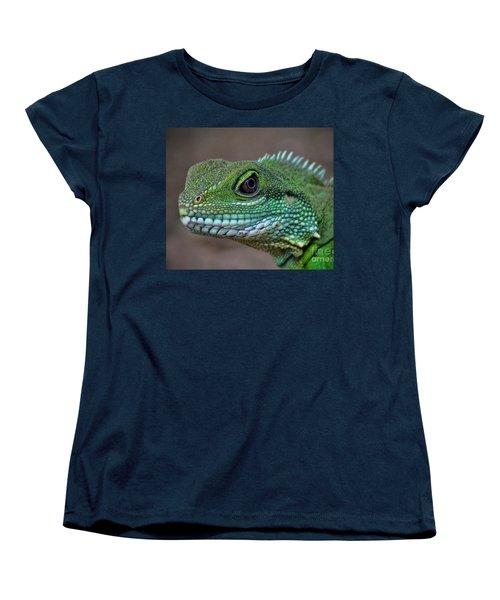 Women's T-Shirt (Standard Cut) featuring the photograph Chinese Water Dragon by Savannah Gibbs
