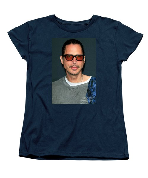 Chris Cornell Women's T-Shirt (Standard Cut) by Nina Prommer
