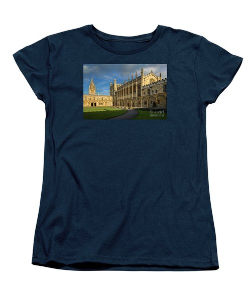 Women's T-Shirt (Standard Cut) featuring the photograph Christ Church College II by Brian Jannsen