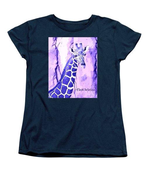 Christina's Giraffe Women's T-Shirt (Standard Cut) by Robert ONeil