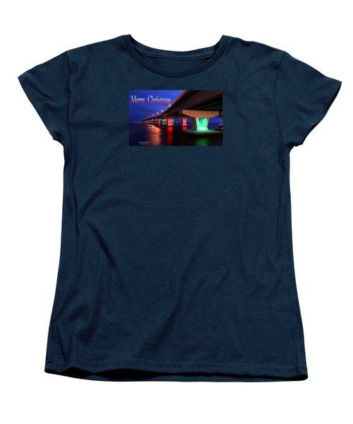 Christmas Bridge Women's T-Shirt (Standard Cut) by John Loreaux